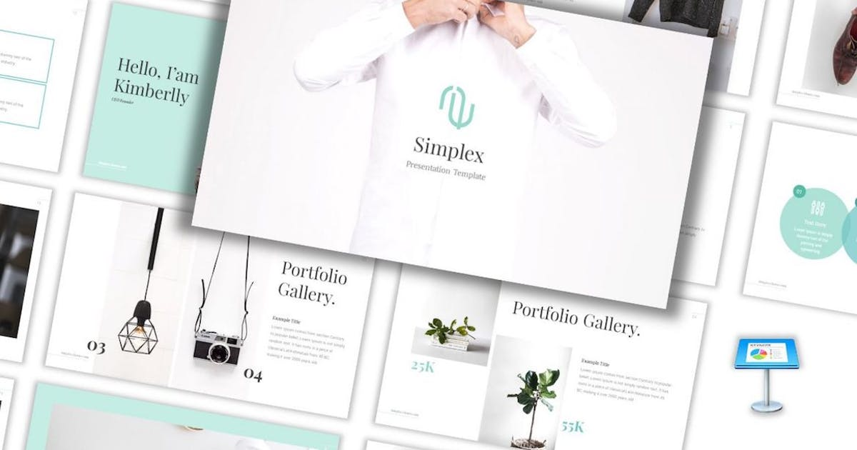 Download Simplex - Lookbook Keynote Template by CocoTemplates
