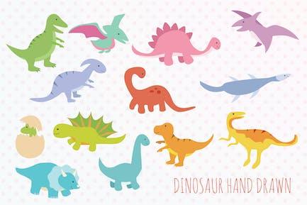 Dinosaur Hand Drawn