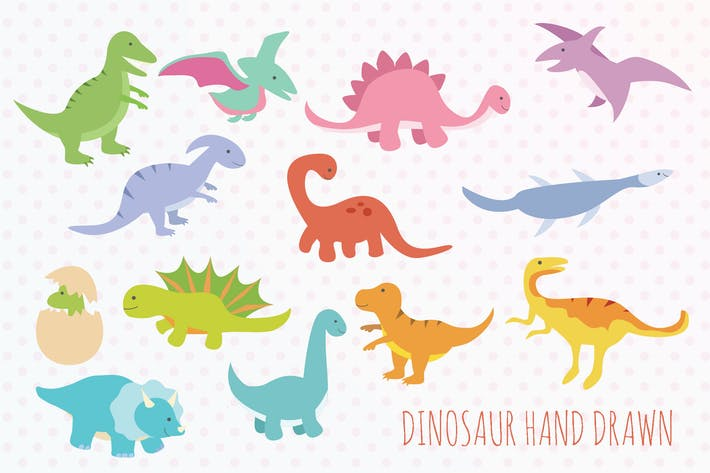 Dinosaur Hand Drawn