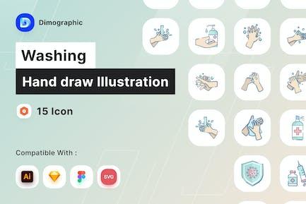 Handarbeit zeichnen Illustration