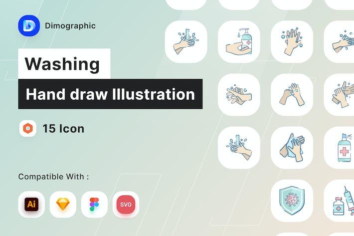 Ilustración de dibujar a mano