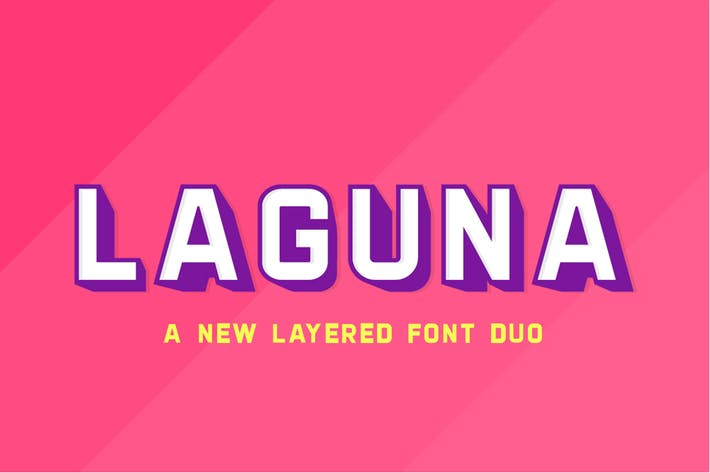 Thumbnail for Laguna Layered Font Duo