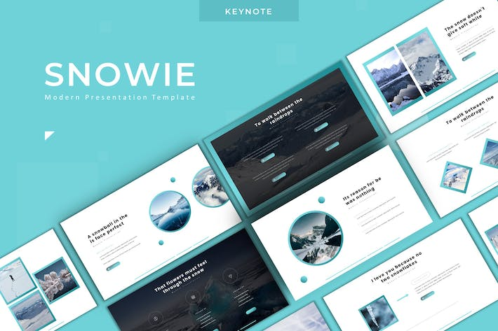 Thumbnail for Snowie - Keynote Template