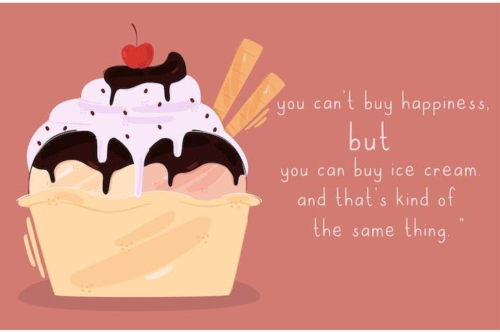 Köstliche Eiscreme-Illu