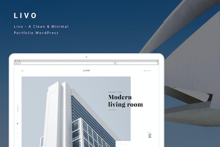 Thumbnail for Livo - A Clean & Minimal Portfolio PSD Template