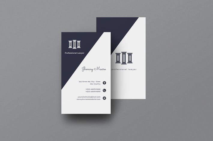Vertical Business Card Lawyer Vol. 1