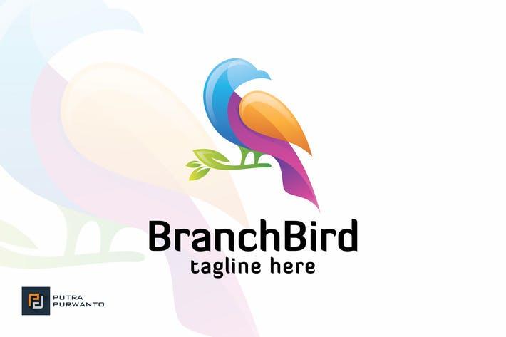 Thumbnail for Branch Bird - Logo Template