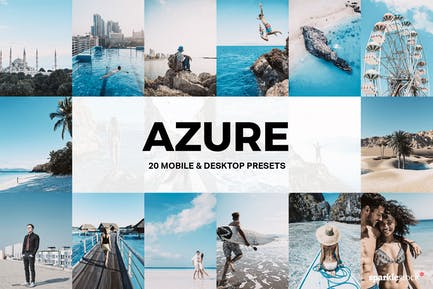 20 Azure Lightroom Presets and LUTs