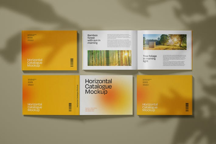 Cover Image For Horizontal Catalogue Mockup