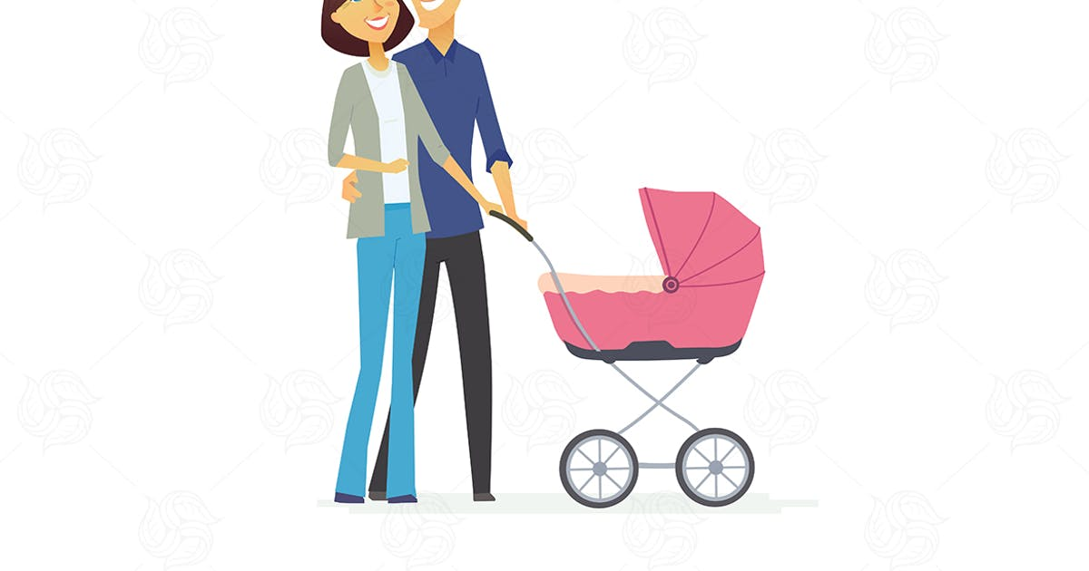 Family - colored modern flat illustration by BoykoPictures