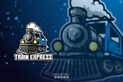 Train Express Mascot Logo