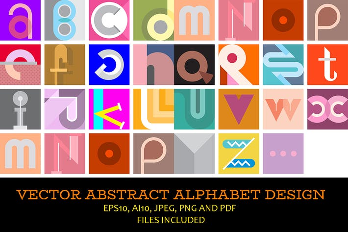 Cover Image For Abstract Font Design vector illustration
