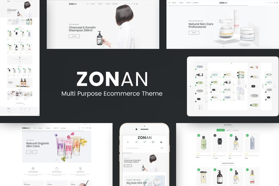 Zonan - Health & Beauty Prestashop Theme