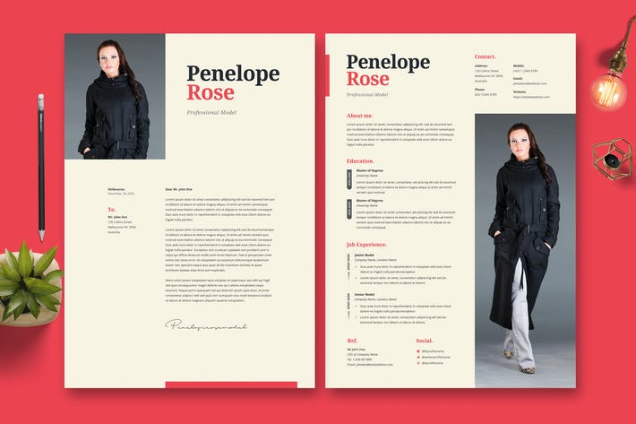 Thumbnail for Model Resume CV Template 43