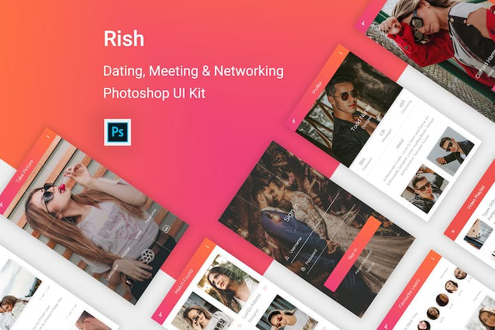 Cover Image For Rish- Dating, Meeting & Networking  for Photoshop