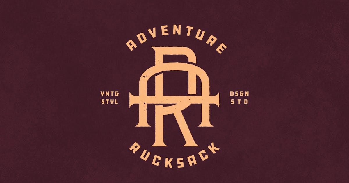 Download AR Vintage Monogram Logo by VisualColony