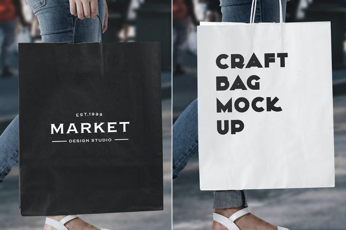 Thumbnail for Urban Shopping Bag Mock Up