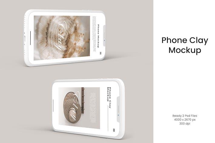 Phone Clay Mockup