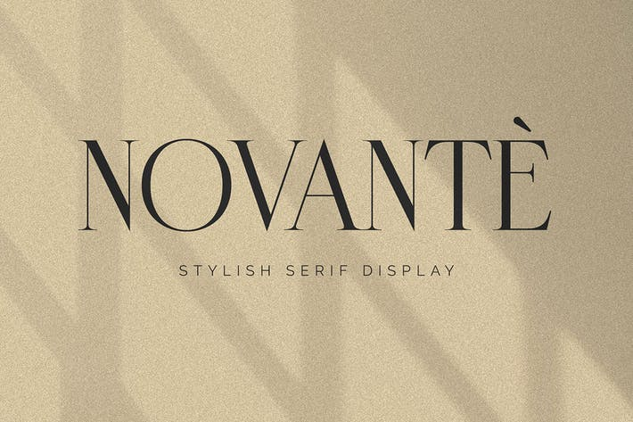 Thumbnail for Novante - Display Serif