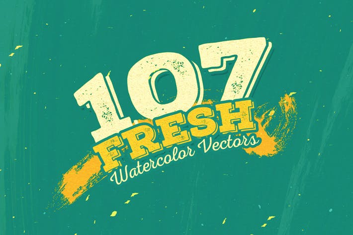 Thumbnail for 107 Fresh Watercolour Vectors