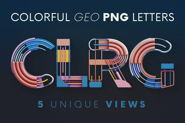 Colorful Geometry - 3D Lettering