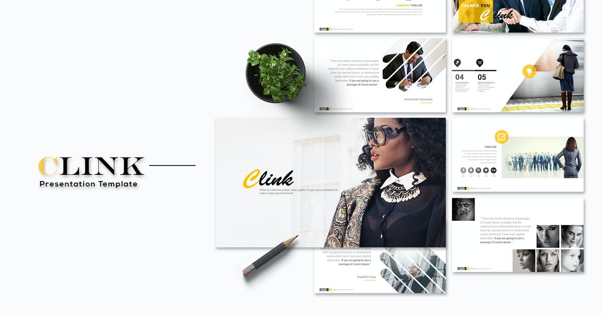 Download Clink - Keynote Template by Artmonk