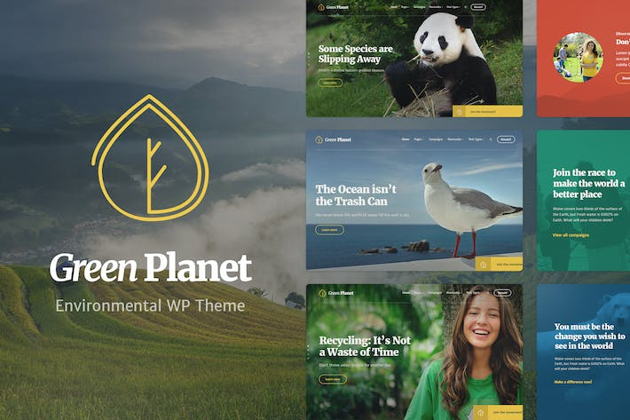 Thumbnail for Ecology & Environment WP Theme - Green Planet