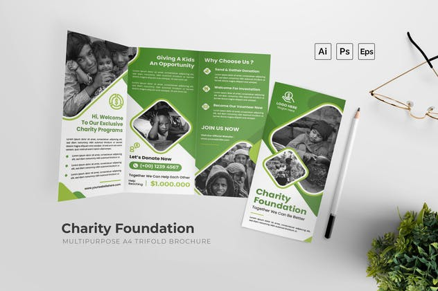 Charity Foundation Trifold Brochure