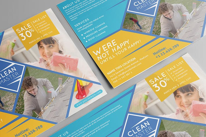 window cleaning pressure washing flyer template by wutip on