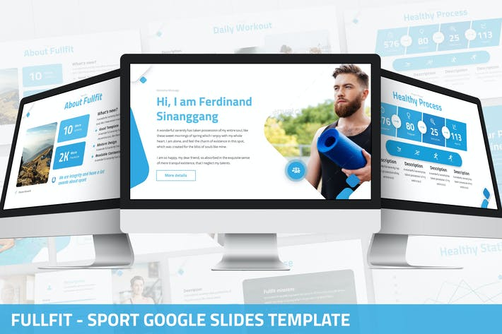 Thumbnail for Fullfit - Sport Google Slides Vorlage