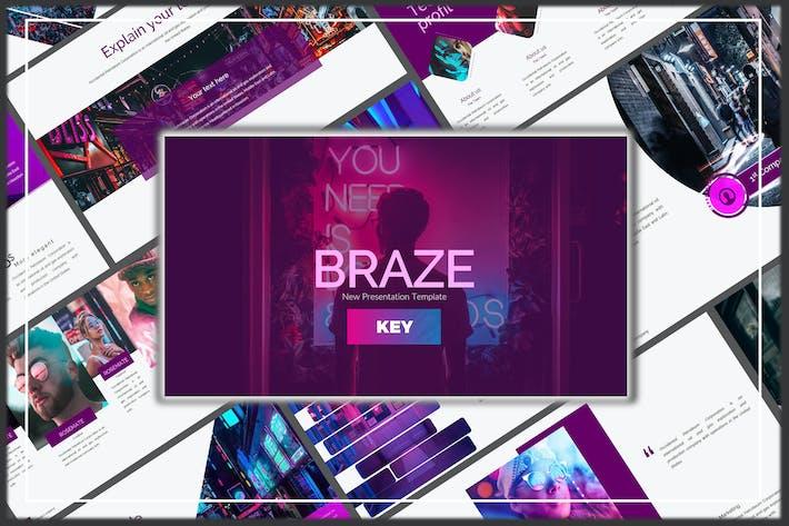 Thumbnail for Braze Innovative Keynote Template