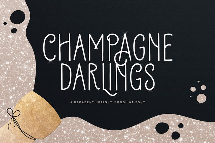 Tipo de letra Champagne Darlings