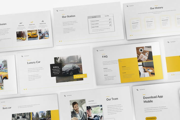 Thumbnail for Taxi Service Keynote Template