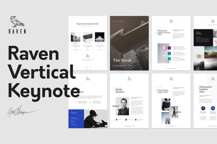 Thumbnail for Raven Vertical Keynote Template