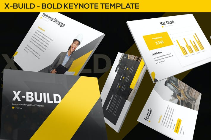 Thumbnail for X-Build - Bold Keynote Template