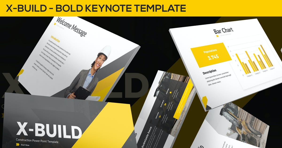 Download X-Build - Bold Keynote Template by SlideFactory