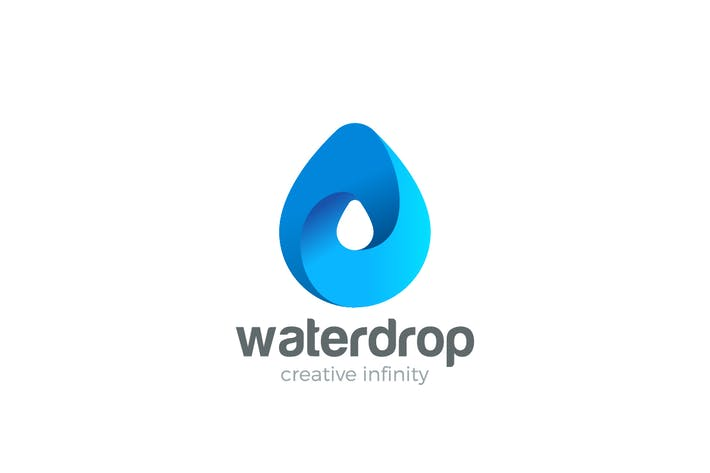 Thumbnail for Logo Water Drop Drink Aqua Droplet