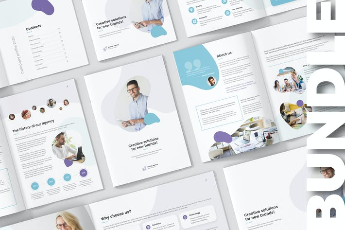 Thumbnail for StartUp Agency – Company Profile Bundle 3 in 1
