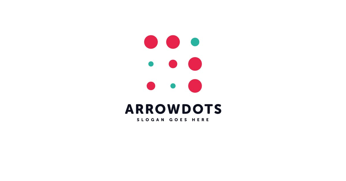 Download Arrow Dots Logo Vector Template by Pixasquare