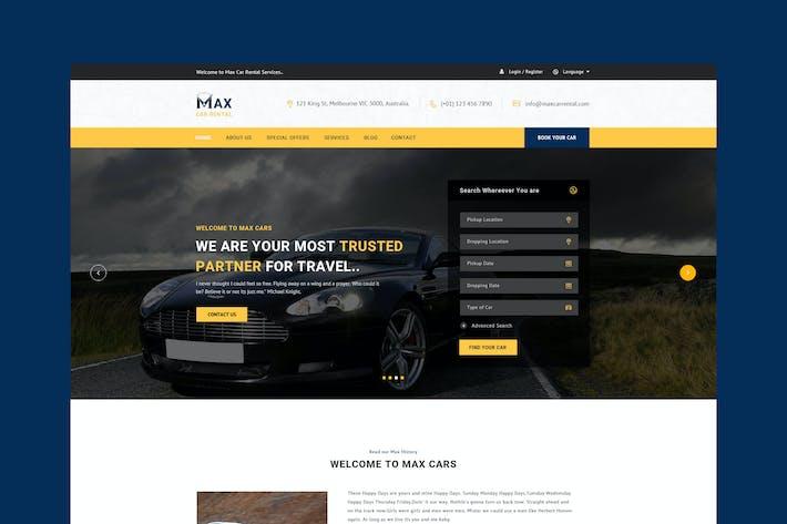 Thumbnail for Car Rental PSD Template