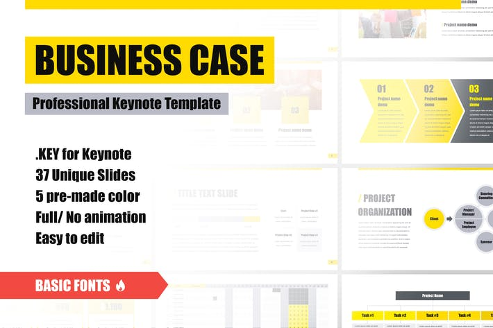 Thumbnail for Business Case Keynote Template