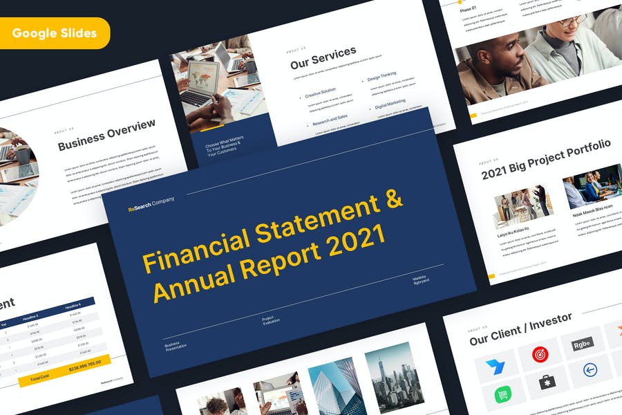 Business Corporate Annual Report Google Slides