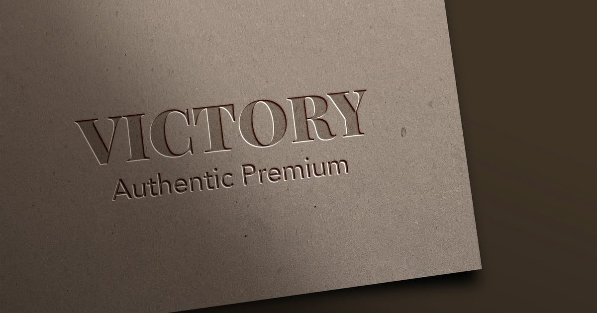 Download Embossed and Pressed Logo Mockup by MartypeCo