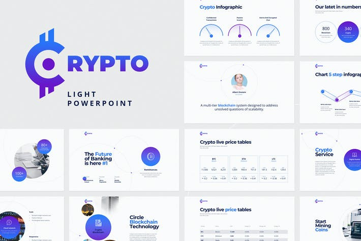 Thumbnail for CRYPTO Powerpoint Light Template