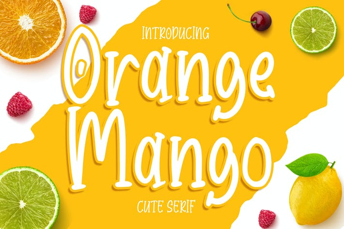 Thumbnail for Orange Mango - Cute Serif Font
