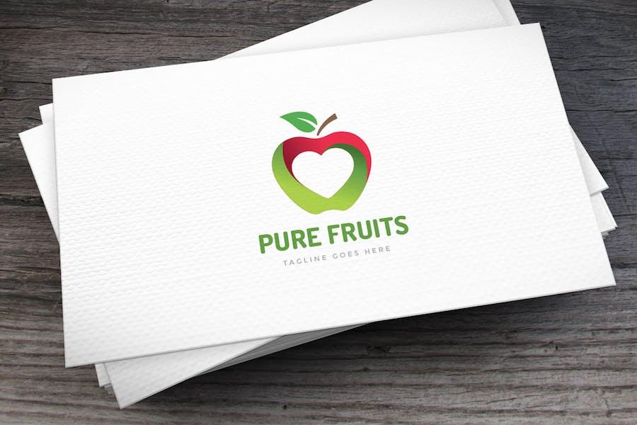 Pure Fruits Logo Template
