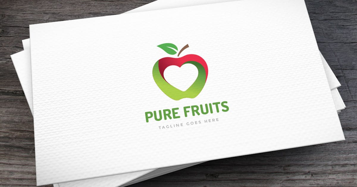 Download Pure Fruits Logo Template by empativo