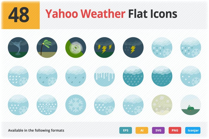 Thumbnail for Yahoo Weather Flat Icons Vol 1