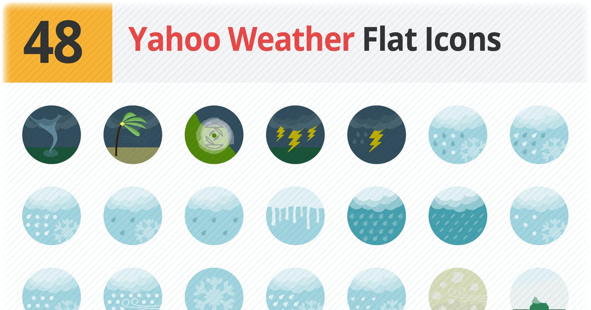 Download Yahoo Weather Flat Icons Vol 1 by roundicons