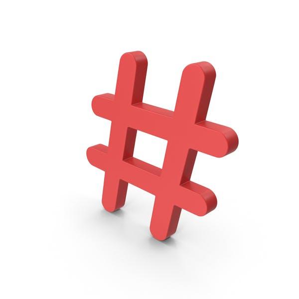 Thumbnail for Roter Hashtag